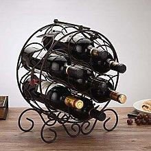 HLL Wine Racks,Iron Art Creative Wine Cabinet