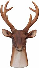 HLL Wine Racks,Resin Deer Head Shape Creative Wine