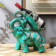 HLL Wine Racks,Resin Elephants Shape Creative Wine