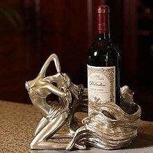 HLL Wine Racks,Resin Girl Creative Fashion Wine