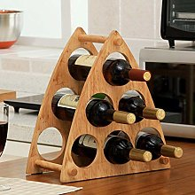 HLL Wine Racks,Rubber Solid Wood Modern Creative