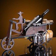 HLL Wine Racks,Tricycle Shape Solid Wood Creative