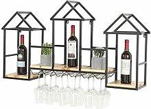 HLL Wine Racks,Wall Mounted Wine Rack Wooden