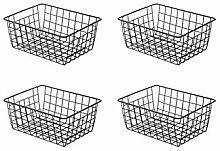 HLONGG Metal storage basket, desktop snack toy