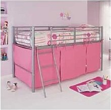HLS Pink Tent For Mid Sleeper Bed Girls Bedroom