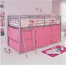HLS Pink Tent For Mid Sleeper Bed Girls Bedroom