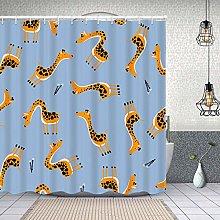 HLSCYZ Waterproof Shower Curtain,funny giraffe