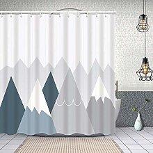 HLSCYZ Waterproof Shower Curtain,mountainscape