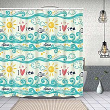 HLSCYZ Waterproof Shower Curtain,seamless pattern