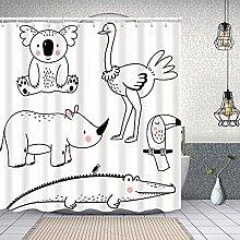 HLSCYZ Waterproof Shower Curtain,vector linear