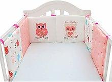HLSUSAN Baby Cot Bed Bumper Cotton 6 PCS Safer