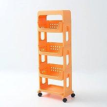 HLSUSAN Storage Trolley Cart, Trolley Slide Out,