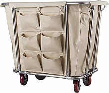 HLWJXS Cart Commercial Laundry Hamper Sorter Cart
