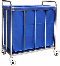 HLWJXS Cart Hotel Rolling Laundry Sorter Cart on