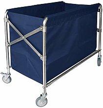 HLWJXS Cart Tool Folding Linen Car for Hotel Lobby