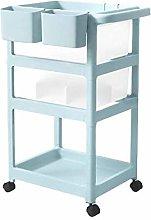 HLWJXS Child Small Cart Plastic Shelf Baby