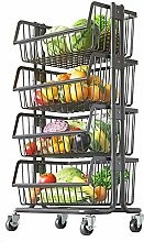 HLWJXS Mobile Small Cart Shelf Home Multilayer