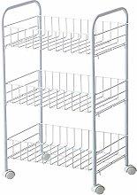 HLWJXS Storage Small Cart Shelf Bedroom Under The