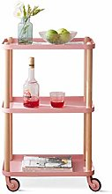 HLWJXS Three Layers Pulley Shelf Living Room