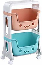 HLWJXS Toy Storage Rack Home Bedroom Small Cart