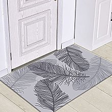 HLXX Leaf-printed doormats, washable non-slip