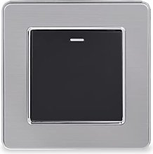 HLY-CASE Stainless Steel Panel 1 Gang 1 Way Reset