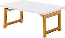 HLY Lazy Table, Bamboo Computer Desk Folding Table