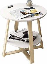 HLY Lazy Table,Desk Café Lounge Table, Wooden