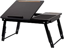 HLY Lazy Table,Small Table Folding Computer Desk