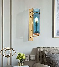 HLY Nordic Style Chandelier,Nordic Blue Glass Wall