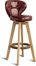 HLYT-0909 Bar Stool Chair with Backrest PU Swivel
