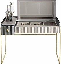 HLZY Vanity Desk for Bedroom Home Decor Gray