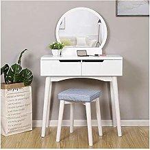 HLZY Vanity Desk for Bedroom Home Decor Solid Wood