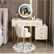 HLZY Vanity Desk for Bedroom Home Decor Table Set