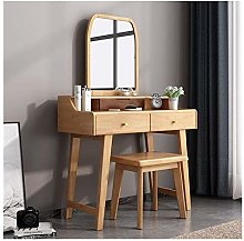 HLZY Vanity Desk for Bedroom Home Decor Wooden