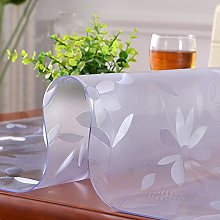 HM&DX Frosted Transparent Tablecloth Waterproof