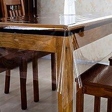 HM&DX PVC Transparent Tablecloth Protector
