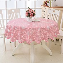 HM&DX PVC Waterproof Tablecloth Round,Oil-free