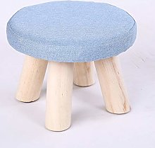 HM&DX Round Foot Stool Low, Upholstered Footstool