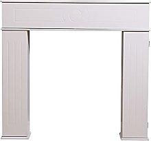 HMD Fireplace Console Hidden Storage Cabinet Wood