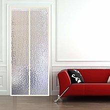 HMHD Magnetic Thermal Door Curtain, Transparent