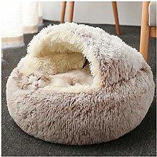 Hmpet Cat Cave Bed Faux Fur Donut Cuddler Round