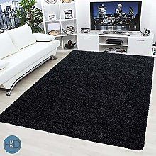 HMWD ® Anthracite Shaggy Rugs New Non Shed Thick