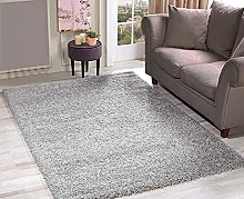 HMWD Deep Pile Silver Grey Shaggy Area Rugs Thick