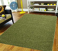HMWD ® Lime light Green Shaggy Rugs New Non Shed