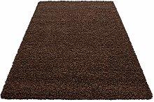HMWD Modern Chocolate Brown Fluffy Deep Pile Anti