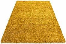 HMWD Modern Mustard Fluffy Deep Pile Non-Slip Area