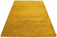 HMWD Modern Mustard/Gold Fluffy Deep Pile Non-Slip
