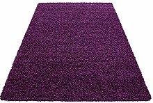 HMWD Modern Thick Pile Purple Non-Shed Plain Soft