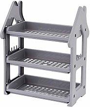 HMYLI 3 Tier Kitchen Rack, Spice Organizer Cart